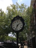 Street clock in downtown Thomasville, GA