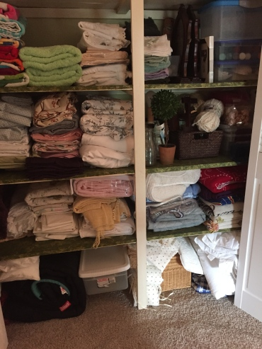 Linen closet before