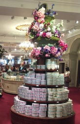 Candy display at the elegant Fortnum & Mason department store