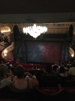 Our seats at Les Miserables