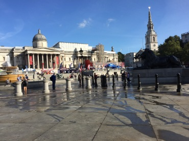 Trafalgar Square with St Martin-in-the-Fields in the background