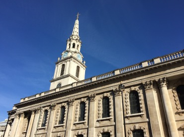 The bells of St Martin-in-the-Fields serenaded us as we left London, reminding us to praise God