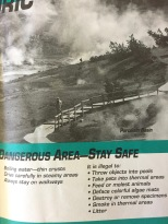 Brochure from Norris Geyser Basin, YNP