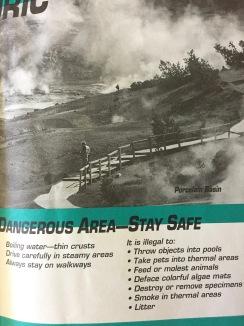 Brochure from Norris Geyser Basin, YNP