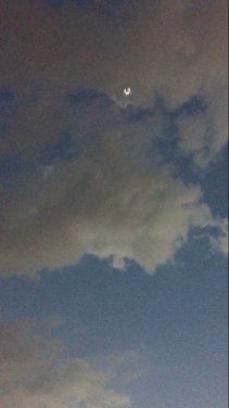 Clouds Threatened to Hide the Eclipse