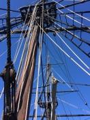 Ship's mast on the replica of the Eleanor - Boston Tea Party