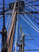Ship's mast on the replica of the Eleanor - Boston Tea Party