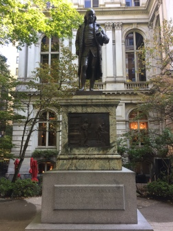 Site of First Latin School whose most notable dropout was Benjamin Franklin