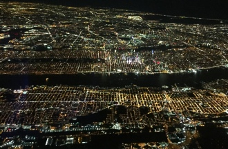 New York City looked festive from the air