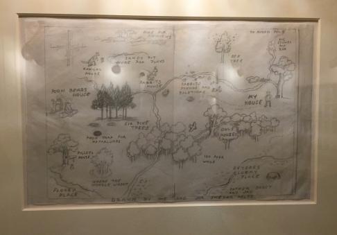 Original Drawing of 100 Acre Wood