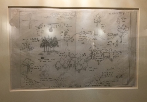 Original Drawing of 100 Acre Wood