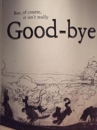 Good-bye's aren't fun