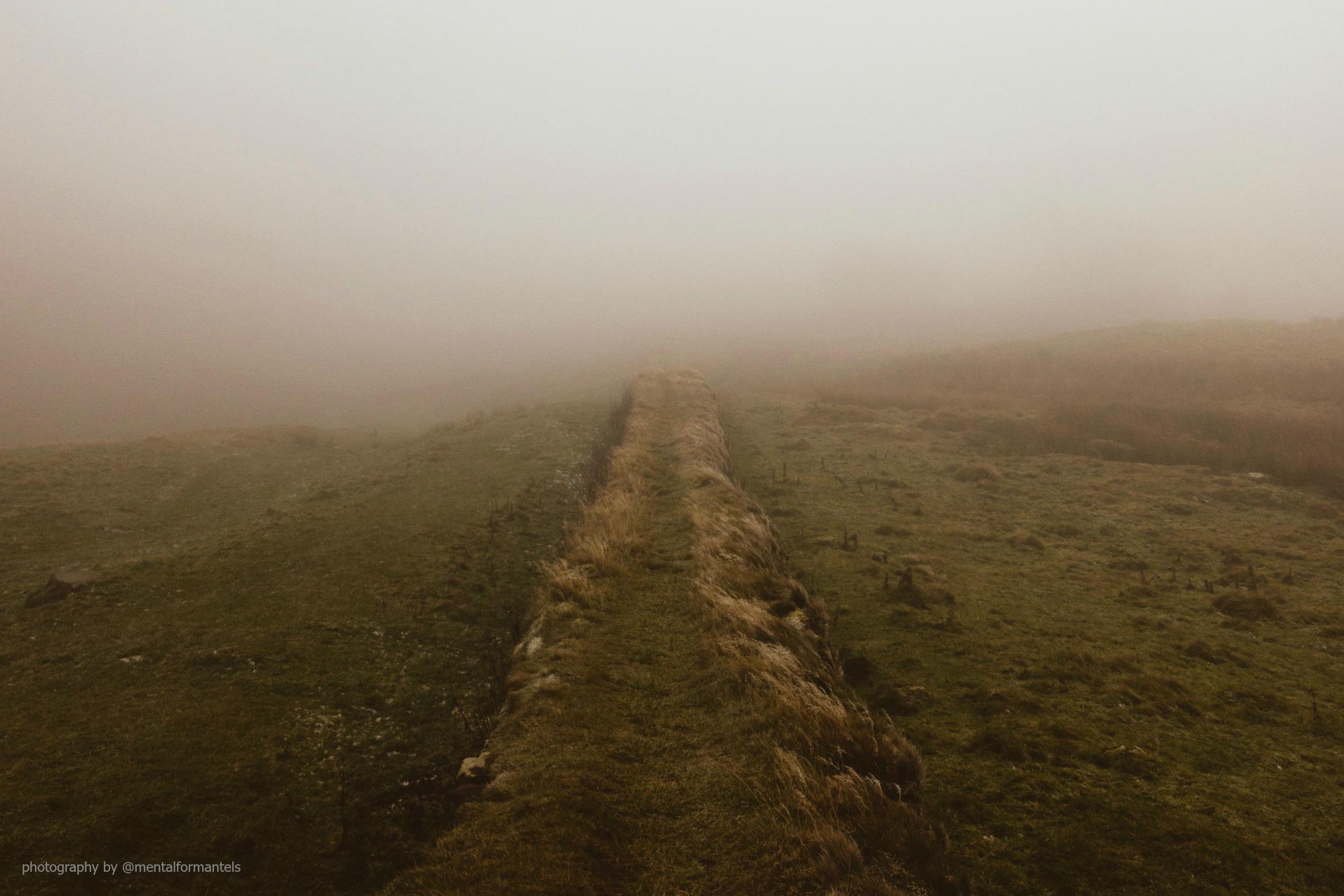 Hadrian's Wall  In A Fog