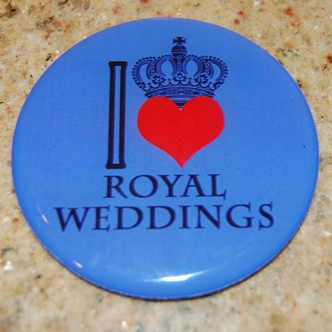 Royal wedding button