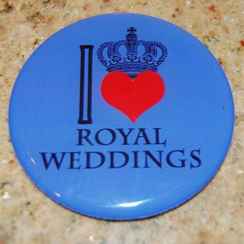 Royal wedding button