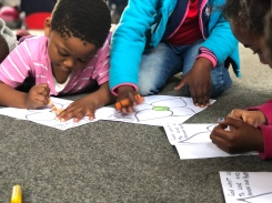 Coloring at Kid's Camp