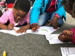 Coloring at Kid's Camp