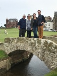 With Family at Swilken Bridge St. Andrews Old Course