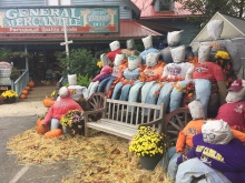 Fall Display at Fred's Mercantile - Beech Mountain