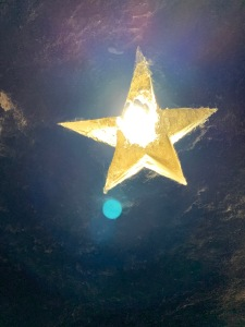 Star on Ceiling in Cave