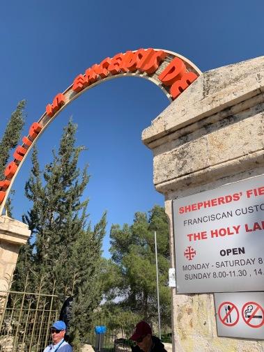 Entrance to Shepherds' Field