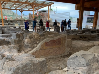 Ruins of First Century Synagogue With Fresco, Magdala