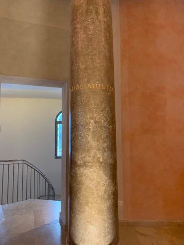 Column in Women's Atrium, Duc In Altum, Magdala