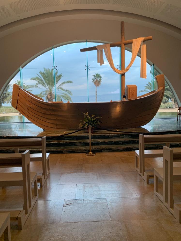 Boat Chapel Pulpit Duc In Altum, Magdala