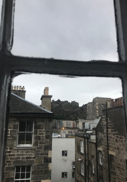 View of Edinburgh Castle from an apartment window