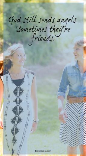 Two women friends walking outside