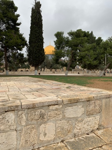 Plaza of Temple Mount with Dome of the Rock in the Background