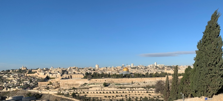 Panoramic view of Jerusalem from the Mount of Olives