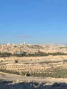 View of Jerusalem From Mount of Olives - Dome of the Rock in Foreground
