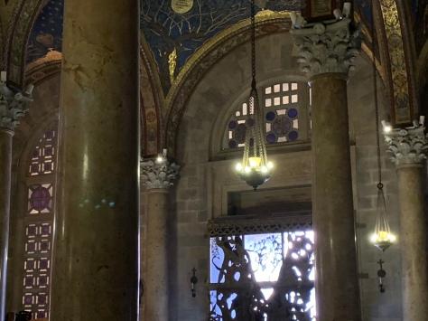 Columns and doorway of church