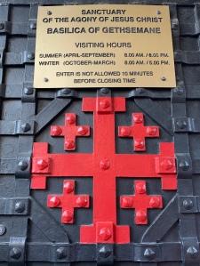 Red Jerusalem Cross on Iron church door