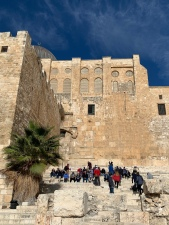 View of steps leading to the Temple Mount in Jerusalem