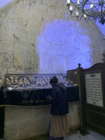 Woman Praying at David's Tomb