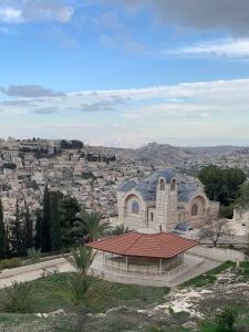 Church with Mount of Olives in background
