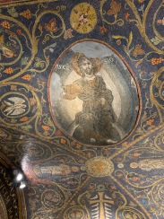 Mosaic of Jesus on the ceiling of the Church of the Holy Sepulcher