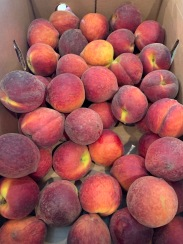 Box of whole peaches