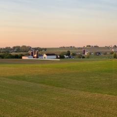 Amish Farm at Sunset